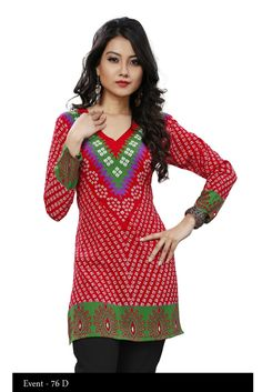 Red American Crepe Bandhani Short Kurti - Crepe Kurtis / Tunics Manufacturer & Exporter | Kurtisindia  One can see and buy our products from our official website that is http://www.kurtisindia.com/ We have wide varities of Indian Kurtis such as American Crepe Printed Kurtis, Chiffon Kurtis, Cotton Kurtis, Digital Printed Kurtis, Embroidered Kurtis and French Crepe Kurtis.