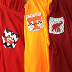 Go Team Pocket Tee Georgia Tennessee Alabama Florida by ahSEWcute