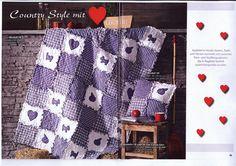 Meine Ragtime Decke und Kissen, veröffentlicht in der Lena Patchwork