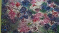 Light on Water. Encaustic Wax on wood based on Monet`s Water Lilies.