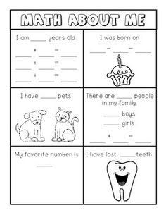 This is a great activity to do at the beginning of the year to help teach children that math is all around them.