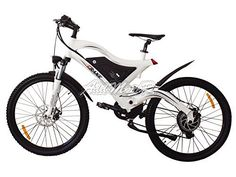 Addmotor 7 Speed Mountain Electric Bicycle 500w High Fork Suspension / Spring Shock Absorber - http://www.bicyclestoredirect.com/addmotor-7-speed-mountain-electric-bicycle-500w-high-fork-suspension-spring-shock-absorber/
