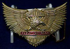 Vintage 1983 Baron Solid Brass Harley Davidson Official Licensed Belt Buckle | eBay