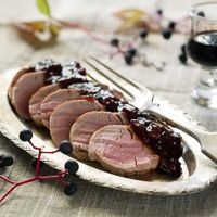 Pork Tenderloin with Cherry Sauce Recipe | Wine Pairing | Gold Medal Wine Club