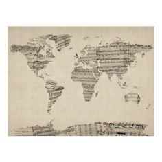 Map of the world map from old postcards stretched canvas by artpause map of the world map from old postcards stretched canvas by artpause 8500 art pinterest canvases wall decor and walls gumiabroncs Choice Image