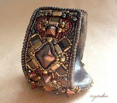 """Купить Браслет """"Брауни"""" - коричневый, подарок девушке, подарок женщине, шоколадный, симбирцит, авторский браслет"""