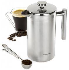 Kaffeebereiter zum Runterdrücken (auch French Press, Kaffeepresse oder Kaffeebereiter genannt) sind ja ungemein praktisch. Man braucht keine Filter und kann normales Kaffeepulver verwenden. Heißes Wasser und ein wenig Geduld ist alles was nötig ist. Es gibt wirklich schöne Kaffebereiter von Bodumund auch Bialetti. Das Problem: Sie sind aus Glas, halten nicht viel aus und der …