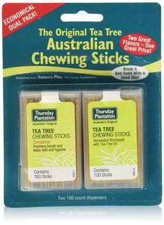 Thursday Plantation Tea Tree Cinnamon & Original Chewing Sticks Dual Pack (200 Counts)