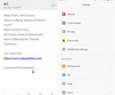 Apple iOS9 Fonts MIUI 7