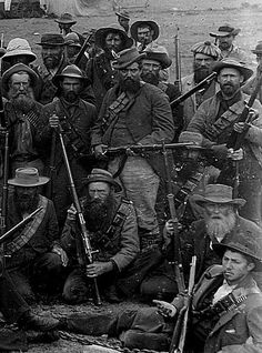 Boer war 1899-1901 South Africa.  The Boers, pictured here, were a very tough foe.