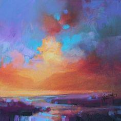 CMY Sky Study 2: Original sunset Skyscape Painting | Scott Naismith