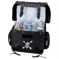 Diamond Plate Motorcycle Trunk-cooler Bag With Skull Medallion – Go Power Gear