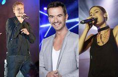 """Sie sollen den ESC retten: Tim Bendzko, Florian Silbereisen und Lena Meyer-Landrut(v.l.)sitzen in der Jury von """"Eurovision Song Contest - Unser Song 2017""""."""