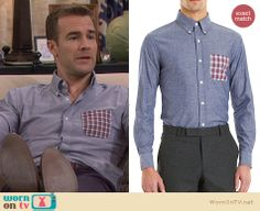 Will's blue shirt with plaid pocket on Friends with Better Lives.  Outfit Details: http://wornontv.net/30709/ #FWBL