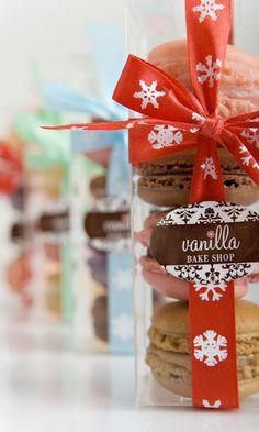 French Macaroons Recipe, Christmas Stocking Stuffer, Wedding or Bridal Shower Favors