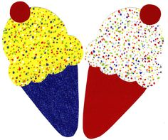 Ice cream cone iron on applique DIY by patternoldies on Etsy, $3.25