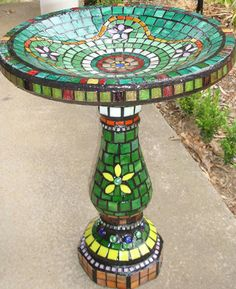 mosaic bird baths - Google Search