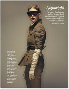 Editorial Yes, Sir in In Donna Italy September 2012 2