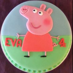 Peppa Pig Cake Cupcake Cake Designs, Cupcake Cakes, Cumple Peppa Pig, Peppa Pig Birthday Cake, Birthday Brunch, 2nd Birthday, Birthday Ideas, Blue Cupcakes, Ice Cake