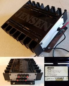 Check out this old school Jensen amplifier Diy Amplifier, Car Audio Systems, Old School Cars, Audiophile, Car Accessories, Apollo, Bbc, Check, Angel