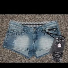 I just added this to my closet on Poshmark: NEW Express Be Rock Distressed Shorts Summer Sz 0. Price: $30 Size: 0
