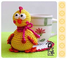 Ravelry: Chicken coaster pattern by Vendula Maderska