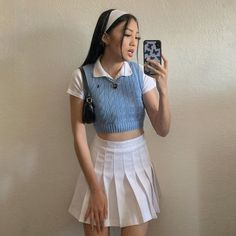 Indie Outfits, Teen Fashion Outfits, Cute Casual Outfits, Retro Outfits, Vintage Outfits, Summer Outfits, Girly Outfits, Aesthetic Fashion, Aesthetic Clothes