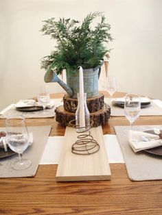 Christmas Table Setting www.adorbymelissa.com