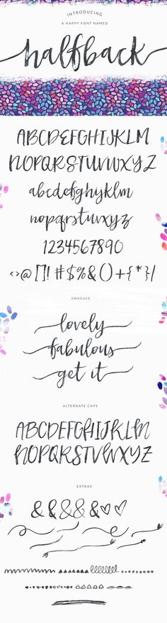 Dry Brushed Calligraphy Font Design, Halfback by Angie Makes   angiemakes.com
