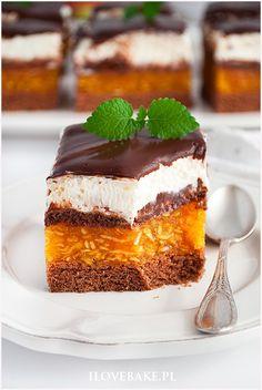 Ciasto kilimandżaro - I Love Bake Polish Desserts, Fancy Desserts, Sweet Desserts, Sweet Recipes, Delicious Desserts, Yummy Food, Baking Recipes, Cookie Recipes, Dessert Cake Recipes
