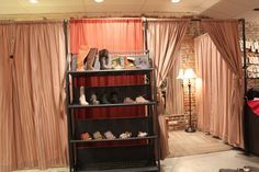 how to make dressing rooms in a retail store | Womens shoes and the dressing rooms