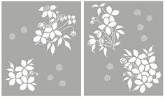 Small Clematis Stencil Montana Clematis Theme Pack