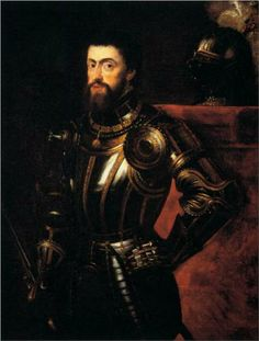 Peter Paul Rubens - Charles V in Armour - Emperor Charles V of the Holy Roman Empire. Father to Phillip II of Spain who married Mary I of England in Charles V was Uncle to Catherine of Aragon, Mary's mother. Peter Paul Rubens, Caravaggio, Catherine Of Aragon, Holy Roman Empire, Landsknecht, Baroque Art, Mary I, Roman Emperor, Hirst