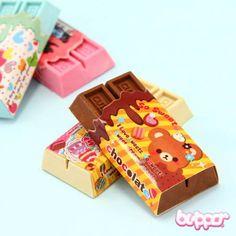 Chocolate Eraser #stationery #kids