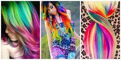 Rainbow Hair Style #hairstyle #women #fashion #moda #mujeres Pelo Multicolor, Rainbow Hair, Color Trends, Hair Color, Style Hairstyle, Hair Styles, Beauty, Women, Fashion
