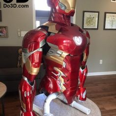 3d-printed-mark-xlvi-mk-46-iron-man-civil-war-printable-model-print-file-stl-by-do3d-com Iron Man Suit, Iron Man Armor, Foam Armor, 3d Printing Diy, Iron Man Avengers, Arc Reactor, Captain America Civil War, Suit Of Armor, 3d Prints