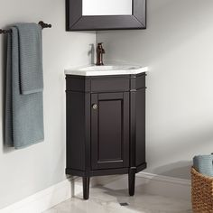 23 winstead espresso corner vanity with carrara marble top