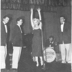 Marilyn Monroe performing for the troops in Korea, February 1954.