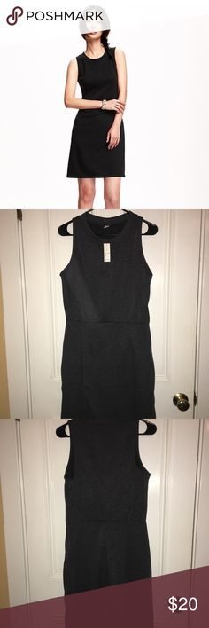 "NWT! Old navy sleeveless sheath dress Gray Old Navy sleeveless sheath dress, NWT! Super comfortable, bought two of the same dress, never worn. It's a size medium tall. I'm 5'6"" and it reaches to my knees Old Navy Dresses Midi"