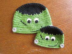 A Chick w/ Sticks: Halloween Hat Pattern - Frankie Free crochet pattern