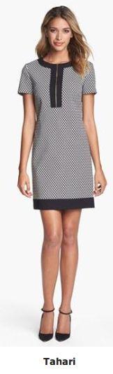 via Lauren Denney's Style Record- shift dress, Tahari