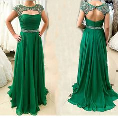Sexy Open Back Party Evening Dress Women Formal Prom Gown Luxury Crystal Beading Emerald Green Long Prom Dresses vestido baile