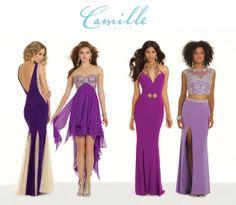 Camille La Vie Purple and Lavender Prom Dresses for 2014