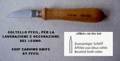 Vendita online coltelli da intaglio del legno | La Bottega del ...