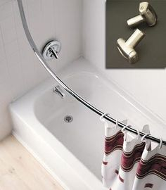 curved shower curtain bar