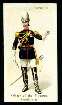 Romanian officer of the mounted gendarmes Military Art, Military Fashion, Army History, Collector Cards, Army Uniform, Football Cards, War Machine, Vogue, Sega Saturn