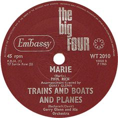 The Big Four (Marie / Trains And Boats And Planes) - Paul Rich / Gerry Glenn & His Orchestra (WT2010) May '65
