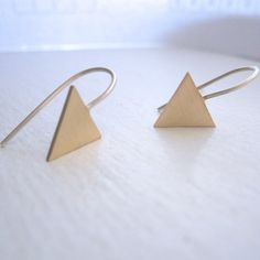 Geometric Drop Dangle Earrings,Tribal Aztec Arrow Statement earrings,Triangle earrings Geometric earring brass earring Dainty earring