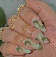 Cute Acrylic Nail Designs, Best Acrylic Nails, Nail Manicure, Gel Nails, Green Nail Art, Nail Swag, Dream Nails, Stylish Nails, Nail Inspo