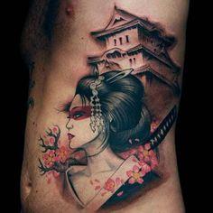 gueixas e samurais desenhos - Pesquisa Google